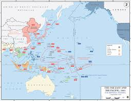 Ww2 Europe Map by Map Of Wwii In The Pacific The Imperial Powers 1939