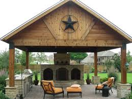 Detached Covered Patio Outdoor Patio Designs With Fireplaces With Water Features And