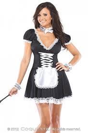 Maid Costumes Halloween Black White 4 Pc Chamber Maid Costume Amiclubwear Costume