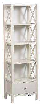 Narrow Bookcase Lancaster 5 Shelf Narrow Bookcase White 22 W X 25 D X 72 H 278