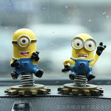 2 pcs set minion car ornaments car accessories car styling