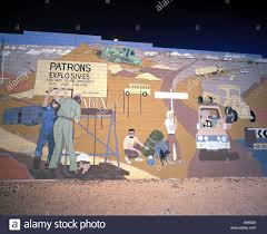 wall mural in the opal mining town of coober pedy south australia stock photo wall mural in the opal mining town of coober pedy south australia