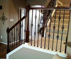 nice wrought iron stair railings given inspiration style paint