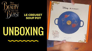 le creuset beauty and the beast unboxing beauty and the beast soup pot be our guest le creuset