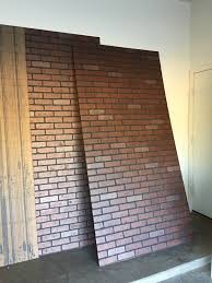 faux brick panels with charming brick wall false decorative panels