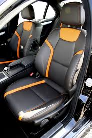 orange mercedes mercedes 204 c class sport black leather with orange sections