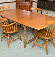 nichols u0026 stone co dining table and chairs ebth