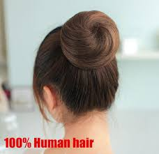 hair buns women hairpieces dish hair bun real hair fashion ponytail