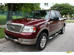 Ford F150 Truck Specs - 2004 ford f150 lariat supercrew 4x4 in dark toreador red metallic