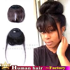 clip in fringe clip in fringe black human real hair extensions neat bangs front