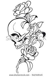 skull and roses stock images royalty free images u0026 vectors