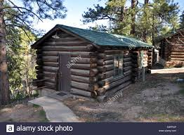 grand canyon lodge north rim frontier cabins 0435 stock photo