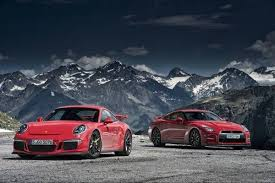 nissan gtr vs driving the 2014 porsche 911 gt3 with the 2013 nissan gt r on