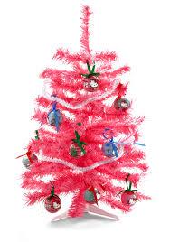 mini pink tree home decorating interior
