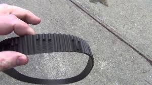worn timing belt from 2004 hyundai santa fe 2 4l with 145 000km