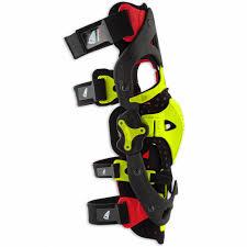 ufo motocross boots kb001 morpho fit knee brace left side ufo plast