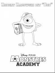 excellent monsters mike wazowski coloring monster