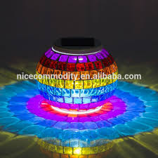 Colour Changing Solar Garden Lights - glass mosaic solar garden lighting glass mosaic solar garden