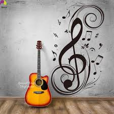 popular music note wall sticker large buy cheap music note wall music note large note floral wall sticker 95cmx56cm musical note rock jazz band wall decal baby