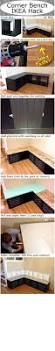Corner Storage Bench Seat Diy by Best 25 Corner Storage Bench Ideas On Pinterest Corner Bench