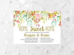 House Warming Invitation Card Floral Housewarming Party Invitation Printable Spring Floral