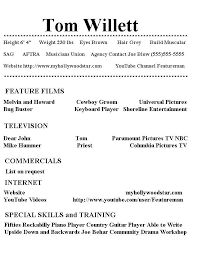 Theatre Resume Template Word Template For Resumes 1000 Ideas About Acting Resume Template On