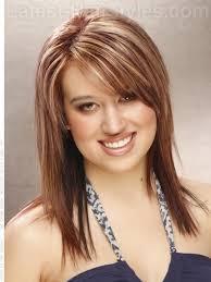 regular people haircuts for medium length shoulder length hair narrow bangs cute hairstyle ideas for women