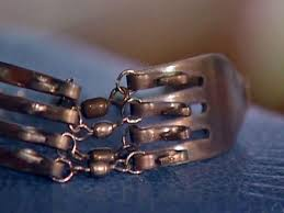 diy silver bracelet images Silver fork bracelet diy jpeg