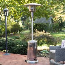Propane Patio Heaters Reviews by Fire Sense Stainless Steel Standard Series Patio Heater Walmart Com