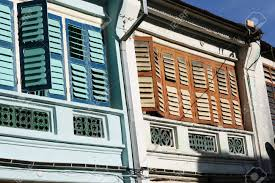 these are colorful colonial houses in penang malaysia they