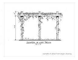 Trellis Construction Clifford See Landscape Architecture Portfolio Sample Drawings