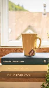 book wallpaper download wallpaper 750x1334 book cup tea window sill window