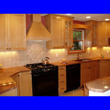 Maple Wood Kitchen Cabinets Luxury Brown Color Maple Wood Prefabriacted Kitchen Cabinets With