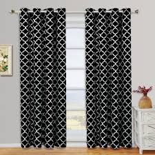 Black And White Thermal Curtains Meridian Thermal Grommet Room Darkening Curtains