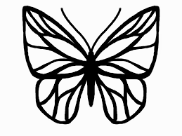 outline of butterflies kids coloring europe travel guides com