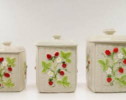kitchen ceramic canisters vintage kitchen canisters etsy