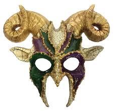 amazon com mardi gras goat half mask horns mens animal