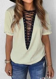 criss cross blouse criss cross splicing v neck blouse fairyseason