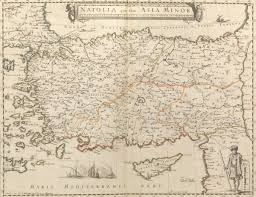 Asia Minor Map by Natolia Quae Olim Asia Minor By Pierre Mariette 1634 1716 10 29