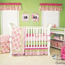 Pink And Green Crib Bedding Pink And Green Baby Bedding Newborn Baby Crib Bedding Baby