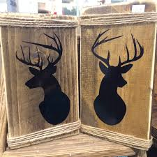 indie home decor deer wall mount rustic wood sign indie home decor gifts for