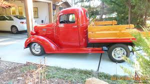 wooden pickup truck chevy custom truck resto mod with oak wood flatbed