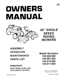 mtd lawn mower 134 511 000 user guide manualsonline com