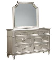 Black And Silver Bedroom Furniture by Windsor Traditional Silver Grey Dresser U0026 Mirror Bedrooms The