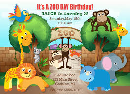 Birthday Invitation Cards For Kids Printable Safari Zoo Birthday Invitation Zoo Invitation