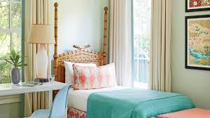 How To Make A Bamboo Headboard by 50 Ways To Decorate With Turquoise Coastal Living