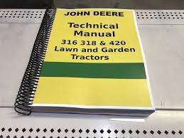 318 john deere lawn and garden tractor technical service shop