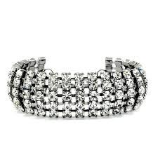 white swarovski crystal bracelet images Stylish jewellery wide 5 row jet clear white swarovski crystal jpg
