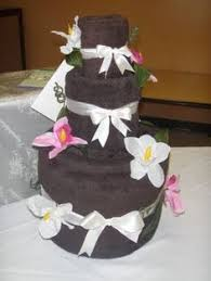 wedding gift towels peacock themed towel cake creative scrapz creative scrapz