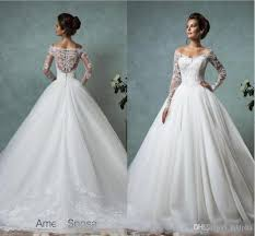 wedding poofy dresses amelia sposa sleeves wedding dresses lace bridal gowns plus